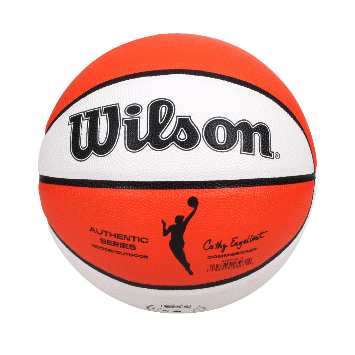 WILSON WNBA AUTH系列室外合成皮籃球#6 WTB5100XB06 - 橘白黑