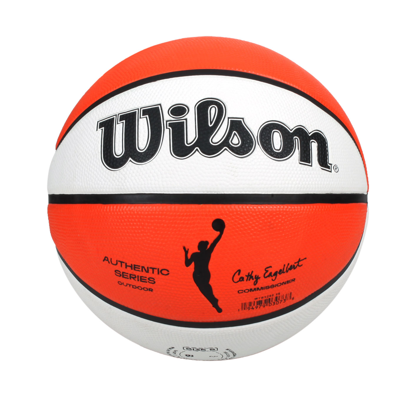 WILSON WNBA AUTH系列室外橡膠籃球#6 WTB5200XB06 - 橘白黑