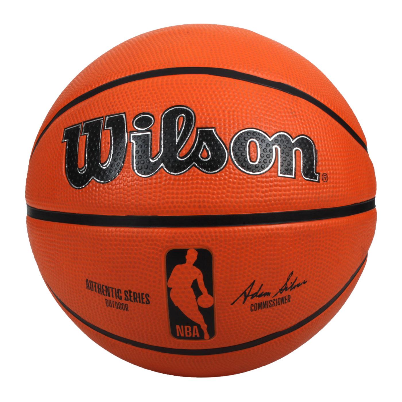 WILSON NBA AUTH系列室外橡膠籃球#7 WTB7300XB07 - 橘黑