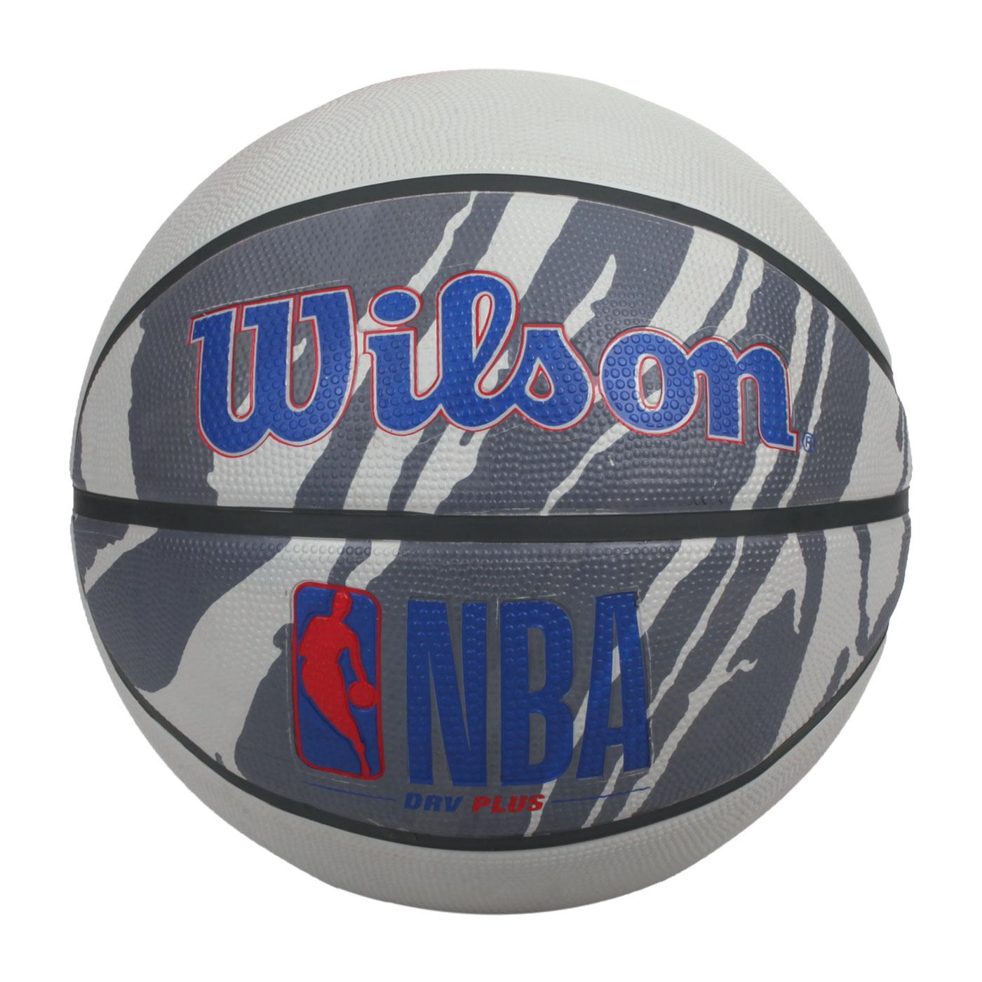 WILSON NBA DRV系列PLUS 橡膠籃球#7 WTB9202XB07 - 灰藍紅