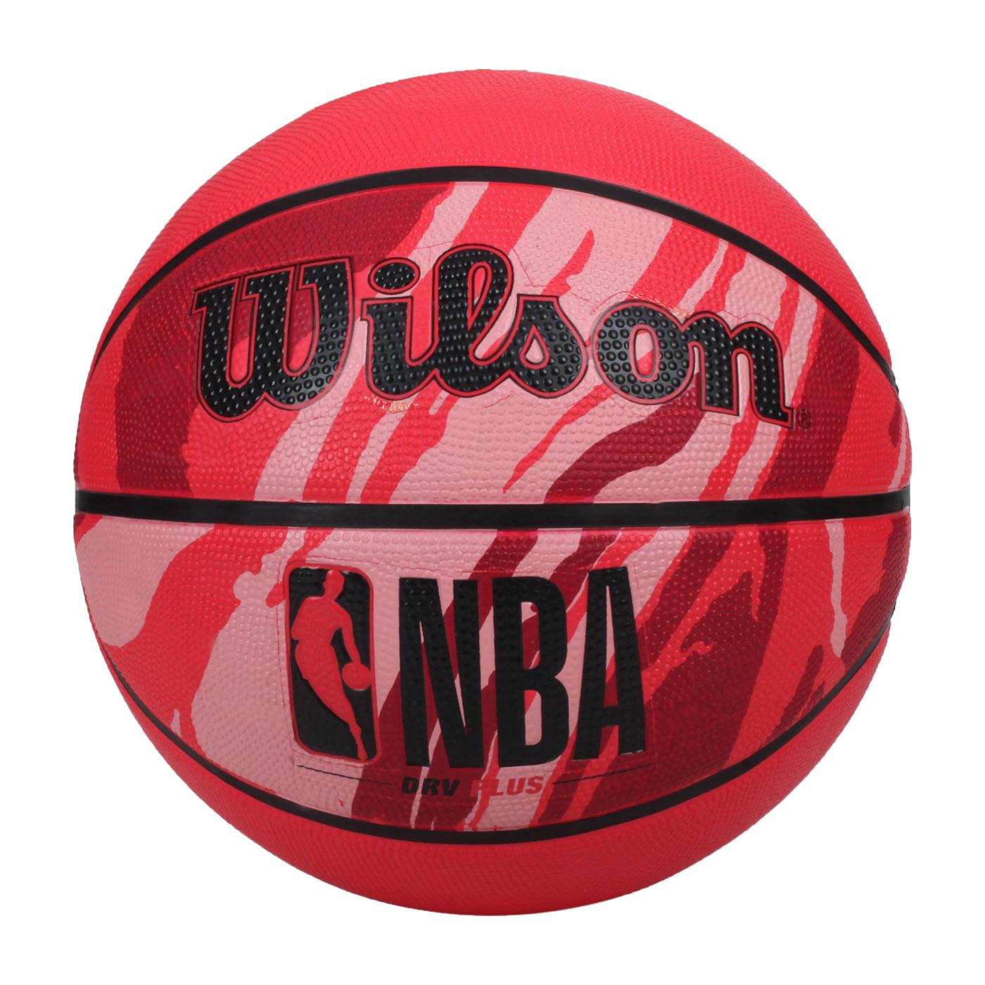WILSON NBA DRV系列PLUS 橡膠籃球#7 WTB9203XB07 - 紅黑