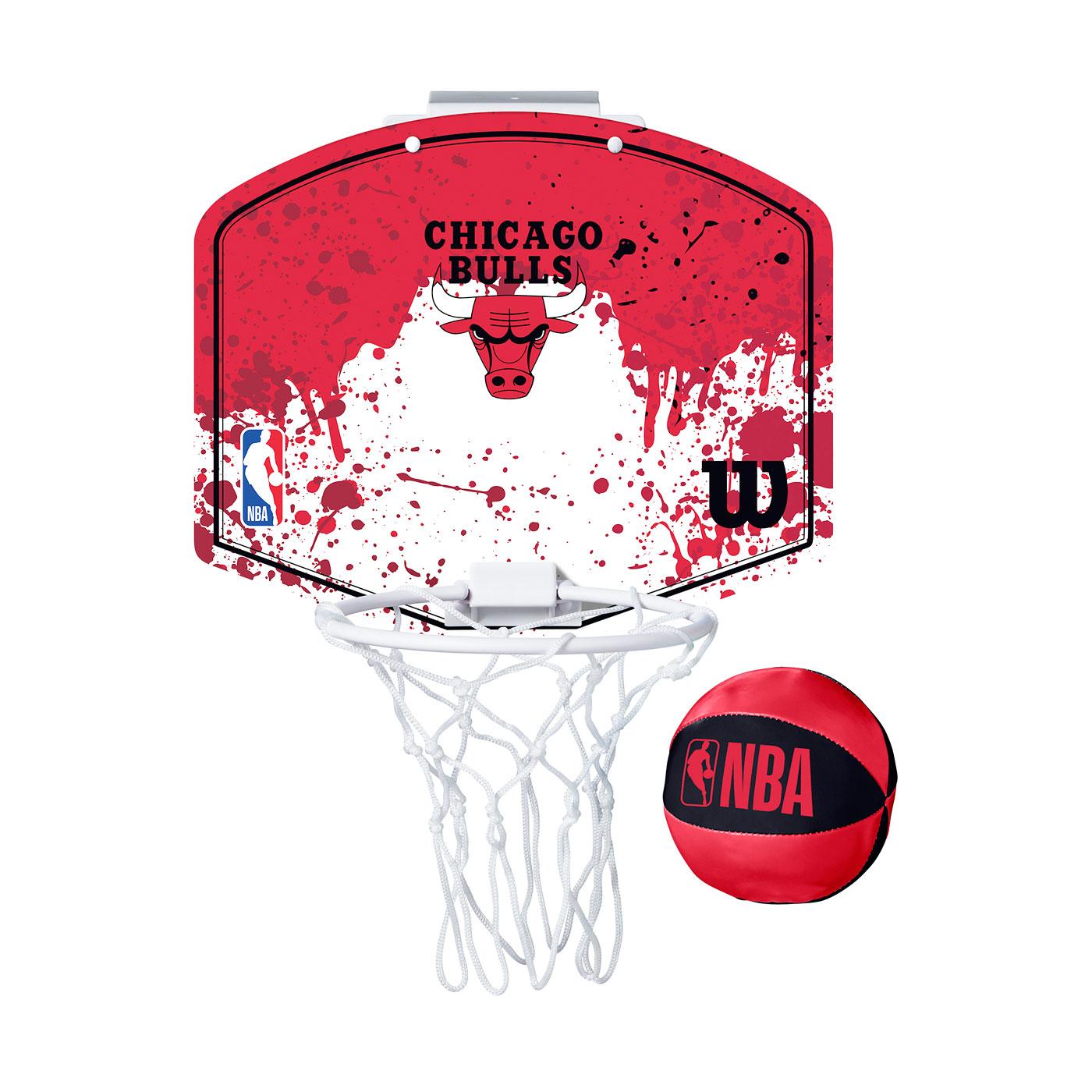 WILSON NBA 迷你籃板 21'公牛隊(含小球) WTBA1302CHI - 紅白黑
