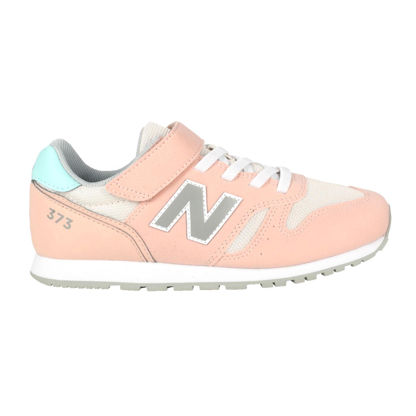 NEW BALANCE 中童休閒運動鞋-WIDE YV373CP2 - 粉橘灰藍