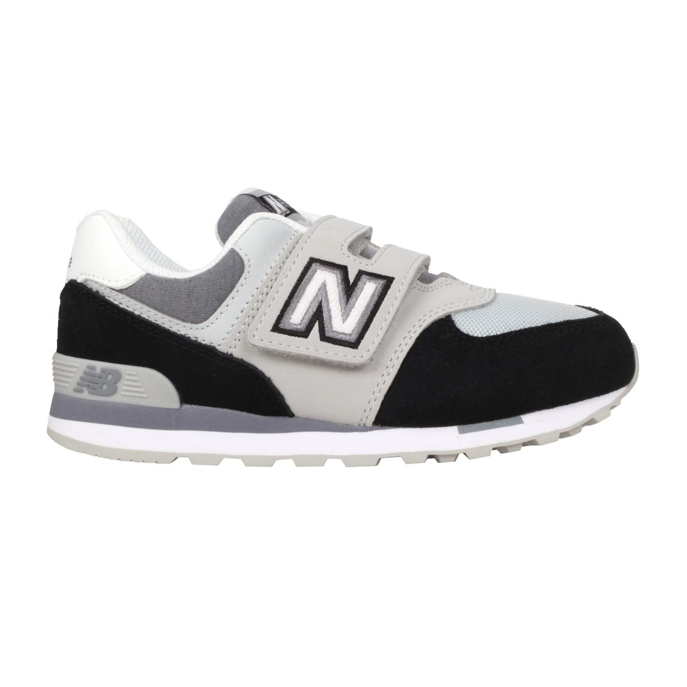NEW BALANCE 中童運動休閒鞋-WIDE YV574NLC - 黑灰白