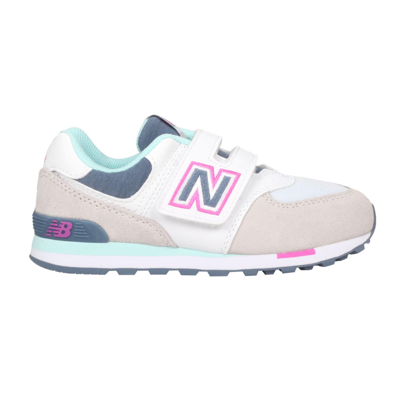 NEW BALANCE 中童運動休閒鞋-WIDE YV574NLH - 灰藍桃紅