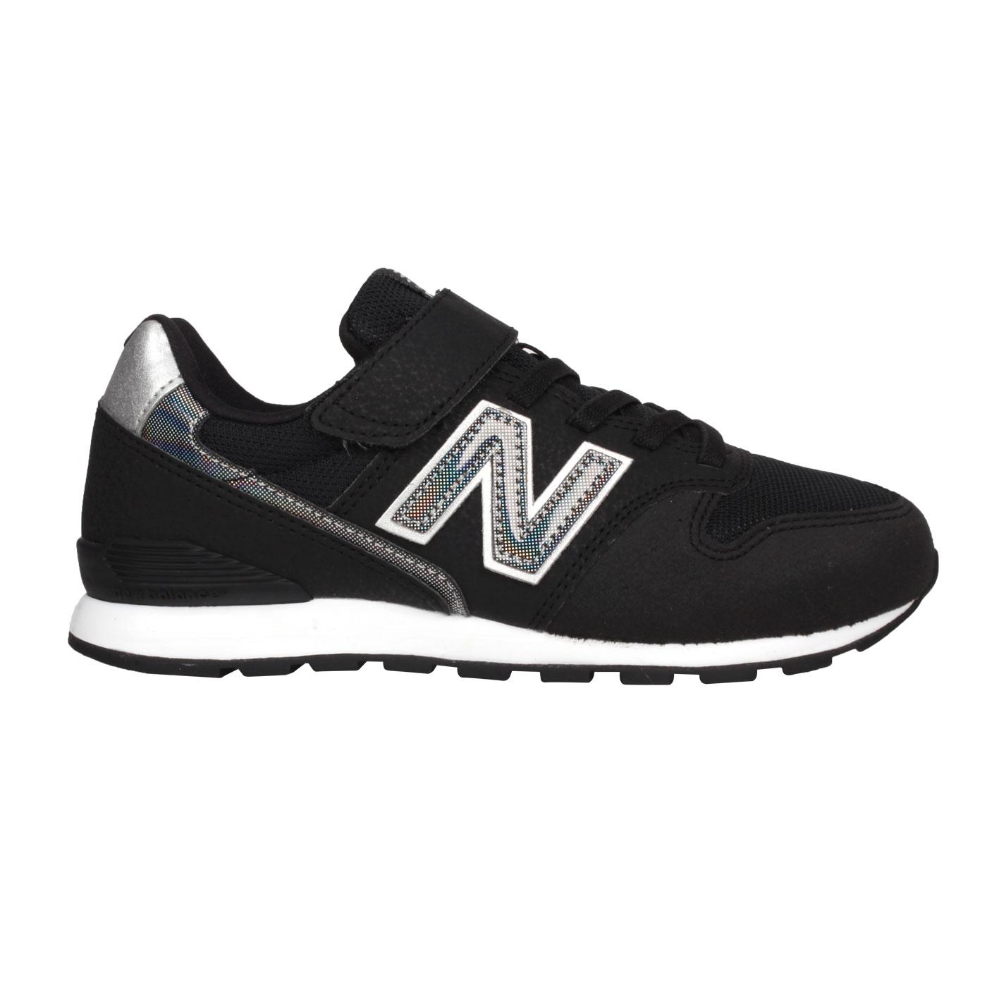 NEW BALANCE 中童運動休閒鞋-WIDE YV996HBK - 黑銀