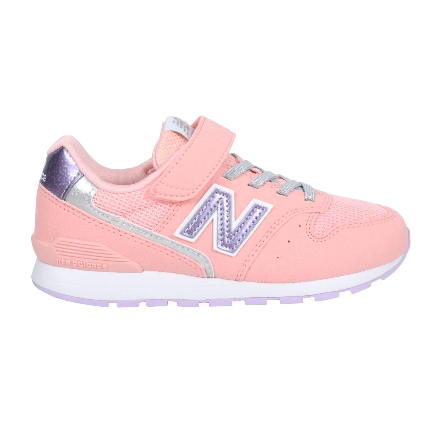 NEW BALANCE 中童休閒運動鞋-WIDE YV996UPN - 粉橘紫