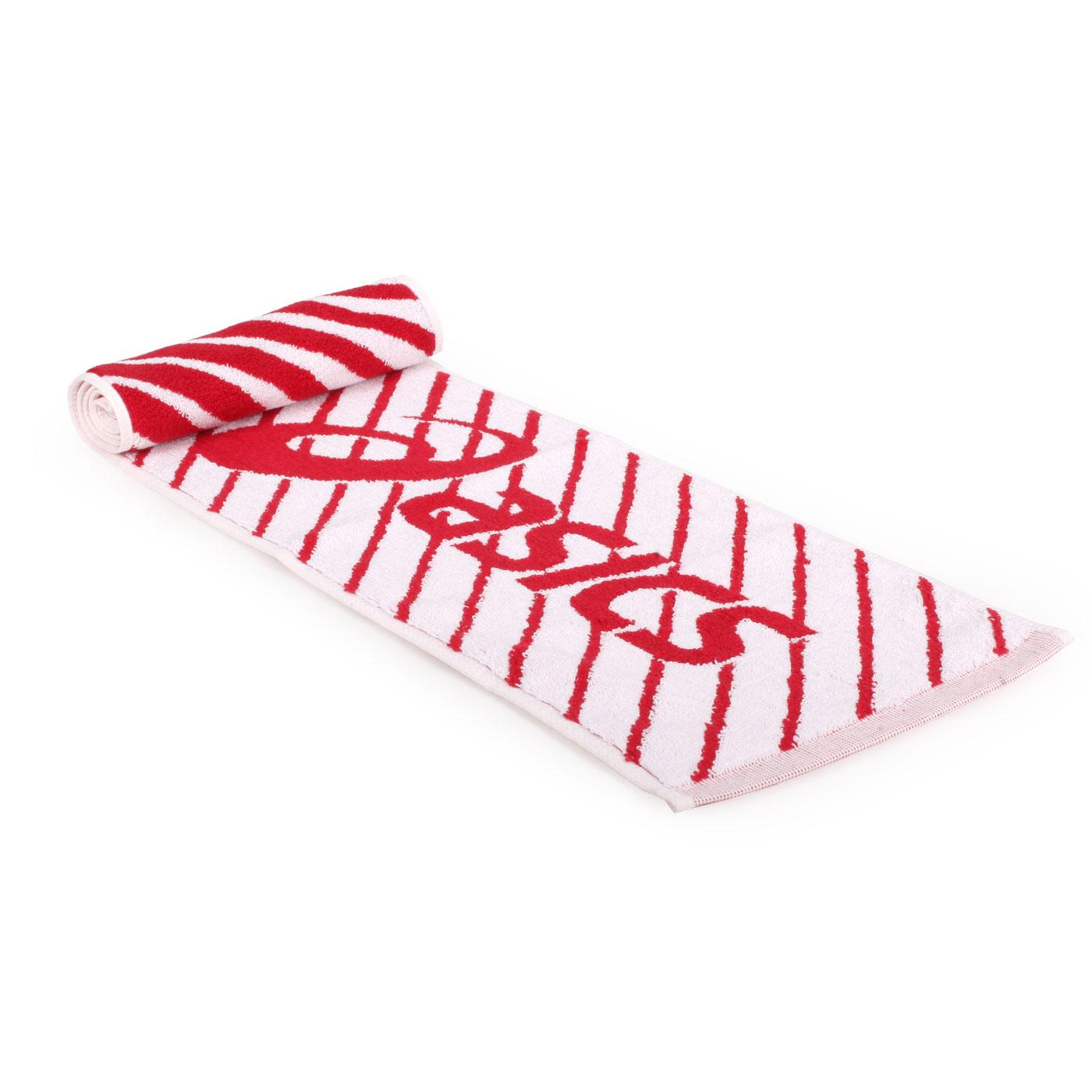 ASICS 運動毛巾 Z12001-23 - 白紅