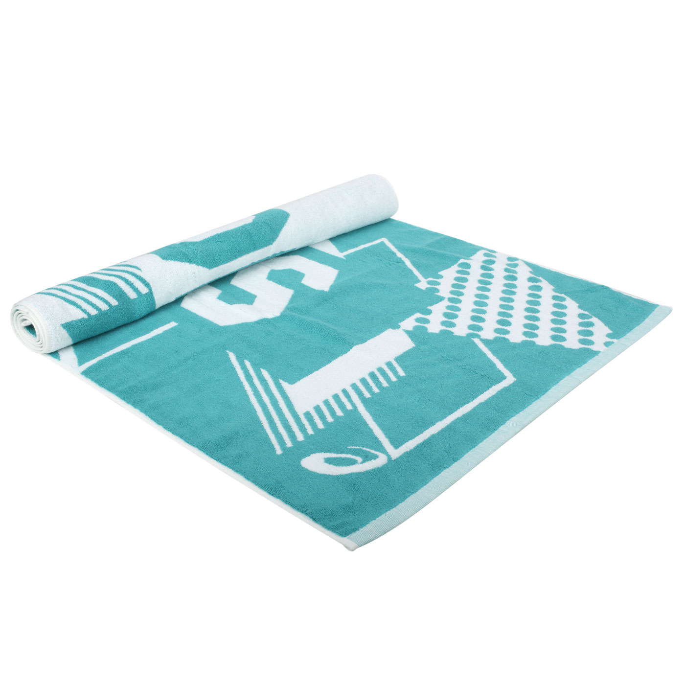 ASICS 大浴巾 Z32001-52 - 粉綠白