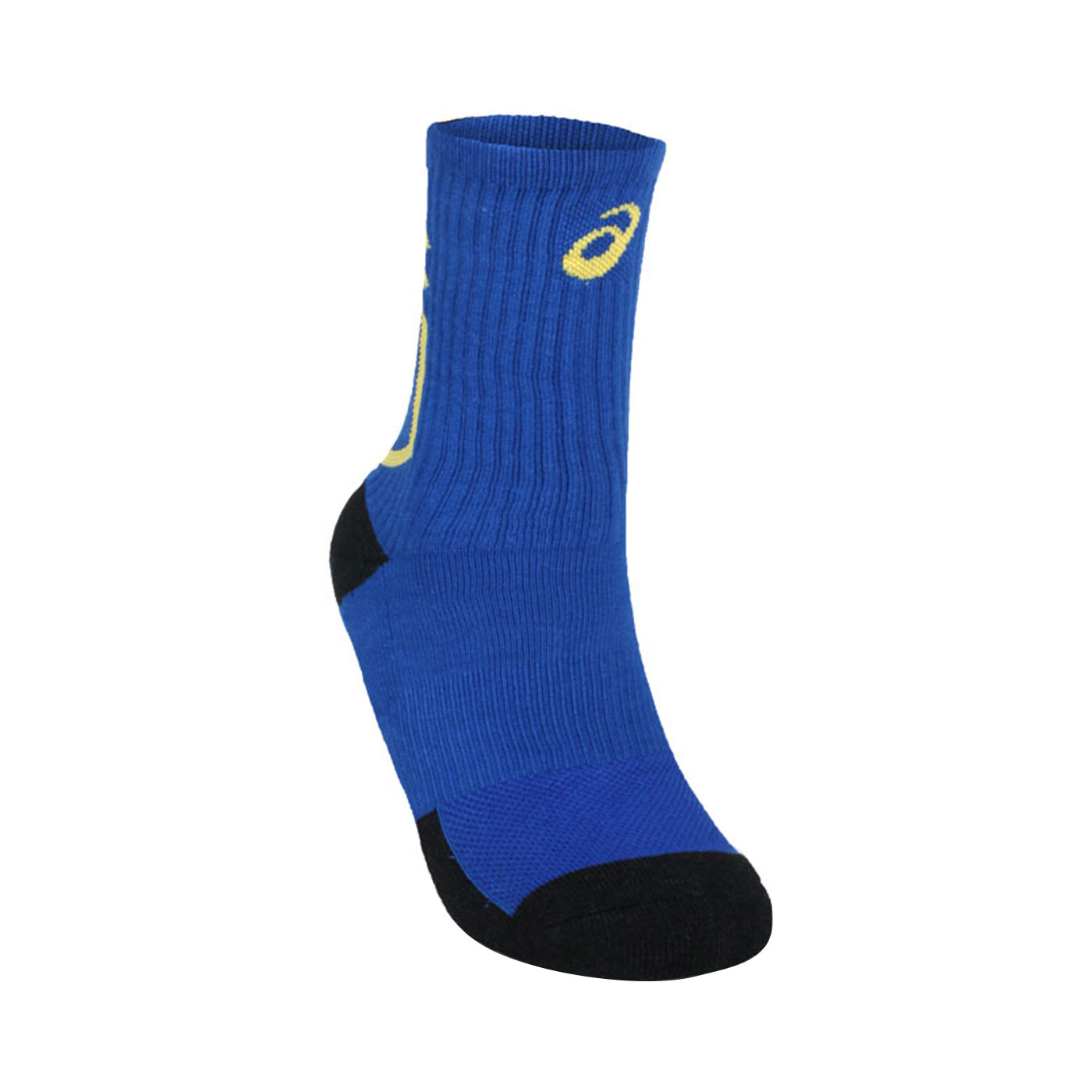 ASICS 運動中筒襪 Z32008-01 - 藍黃